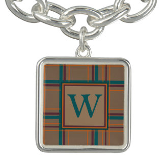 Autumn Chic Plaid Charm Bracelet
