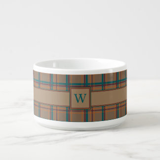 Autumn Chic Plaid Chili Bowl
