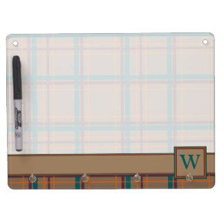 Autumn Chic Plaid Dry Erase Board