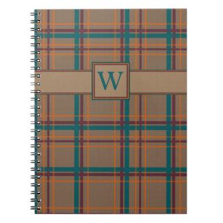 Autumn Chic Plaid Notebook