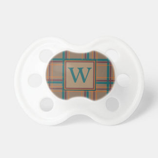 Autumn Chic Plaid Pacifier