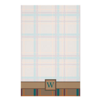 Autumn Chic Plaid Stationery