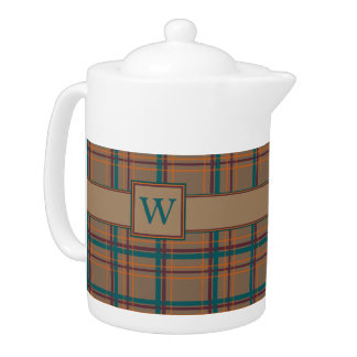 Autumn Chic Plaid Teapot