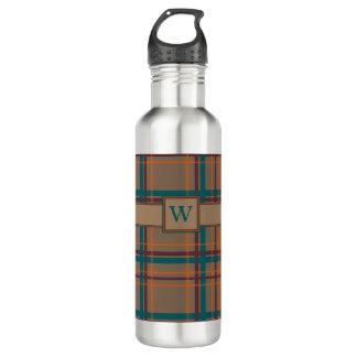 Autumn Chic Plaid Water Bottle