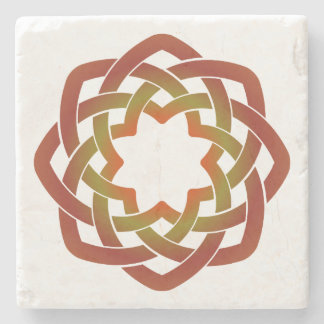 Autumn Circle Stone Coaster