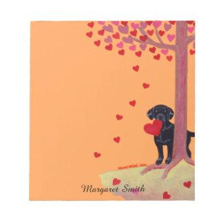 Autumn Color Black Labrador Notepad