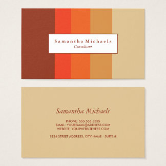 Autumn Color Block Business Cards