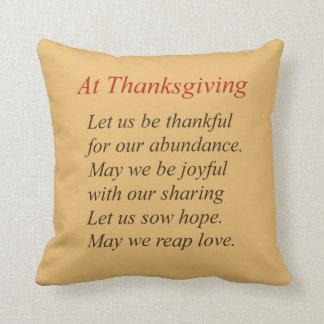 Autumn Color Thanksgiving Poem Throw Pillow