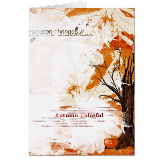 Autumn Colorful Greeting Card