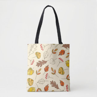 Autumn colorful leaves tote bag