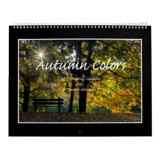 Autumn Colors 2017 Calendar By Thomas Minutolo