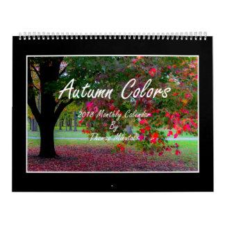 Autumn Colors 2018 Monthly Calendar