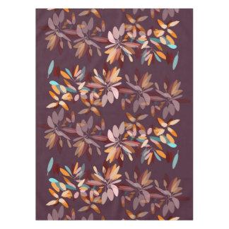 Autumn colors black background foliage print tablecloth