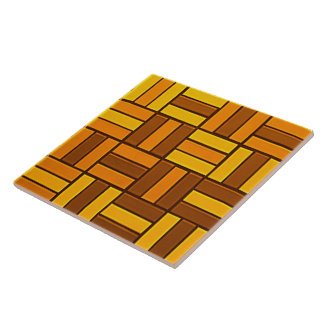 Autumn colors, ceramic-look tiled pattern tile