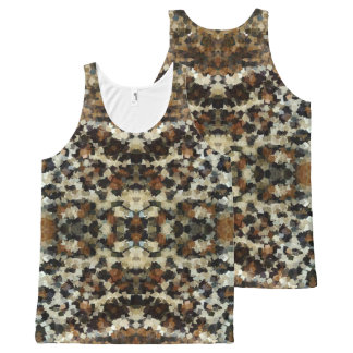 Autumn Colors Funny Mosaic Pattern All-Over-Print Tank Top
