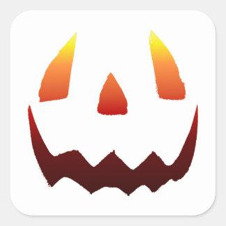 Autumn Colors Jack O' Lantern Face Square Sticker