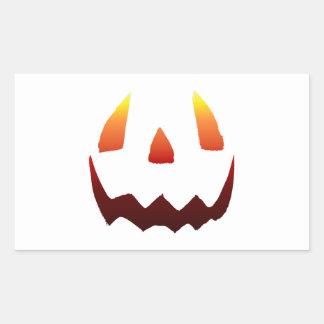 Autumn Colors Jack O' Lantern Face Rectangular Sticker