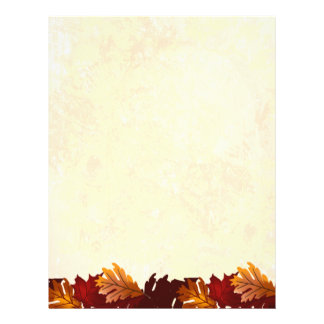 Autumn Colors Leaves Letterhead