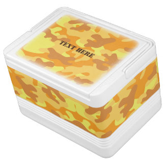 Autumn Colors Orange and Yellow Camouflage Print