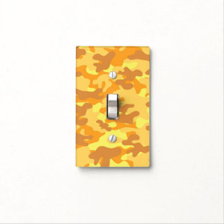 Autumn Colors Orange and Yellow Camouflage Print Light Switch Cover