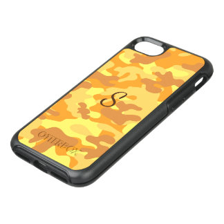 Autumn Colors Orange and Yellow Camouflage Print OtterBox Symmetry iPhone 8/7 Case