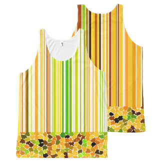 Autumn Colors Orange Red Yellow Apple Green Brown All-Over-Print Tank Top