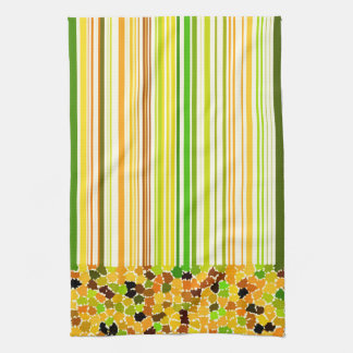 Autumn Colors Orange Red Yellow Apple Green Brown Kitchen Towel