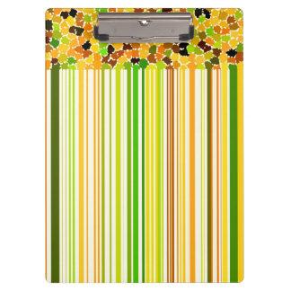Autumn Colors Orange Red Yellow Apple Green Coffee Clipboard