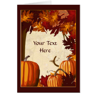Autumn Colors Pumpkin Patch Custom Party Greeting Card