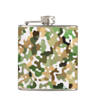 Autumn Colors - Red Orange Yellow Tan Green Brown Hip Flask