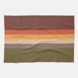 Autumn Colors - Red Orange Yellow Tan Green Brown Kitchen Towel
