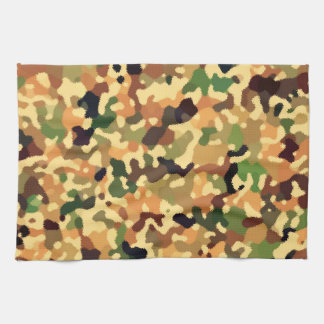Autumn Colors - Red Orange Yellow Tan Green Brown Kitchen Towel