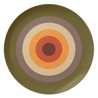 Autumn Colors - Red Orange Yellow Tan Green Brown Plate