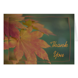 Autumn Colors Thank You Card