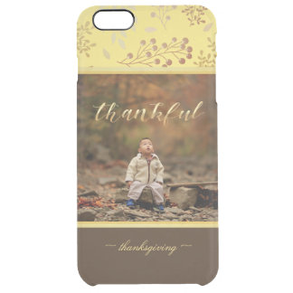 Autumn Colors, Thankful Photo Clear iPhone 6 Plus Case