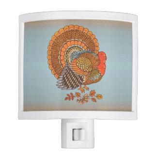 Autumn Colors Turkey Leaves Thanksgiving Night Lites