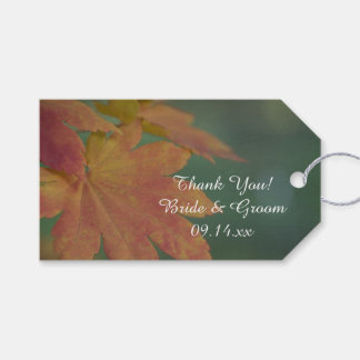Autumn Colors Wedding Favor Tags Pack Of Gift Tags