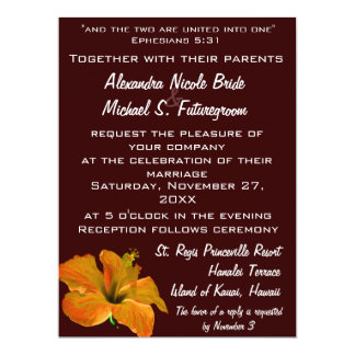"""Autumn Colors Wedding:Two Become One 6.5"""" X 8.75"""" Invitation Card"""