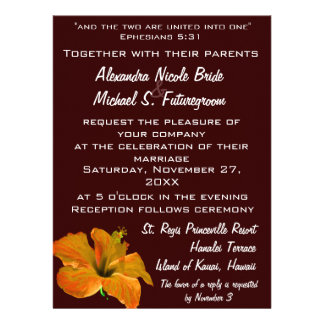 Autumn Colors Wedding Two Become One Announcements