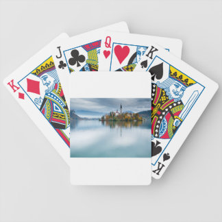 Autumn colours at Lake Bled Bicycle Playing Cards