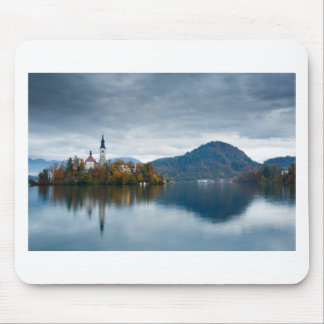 Autumn colours at Lake Bled Mouse Pad