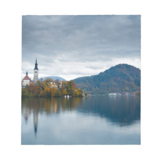 Autumn colours at Lake Bled Notepad