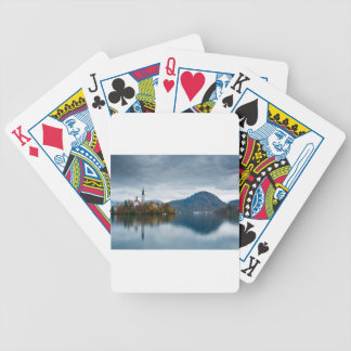 Autumn colours at Lake Bled Poker Deck