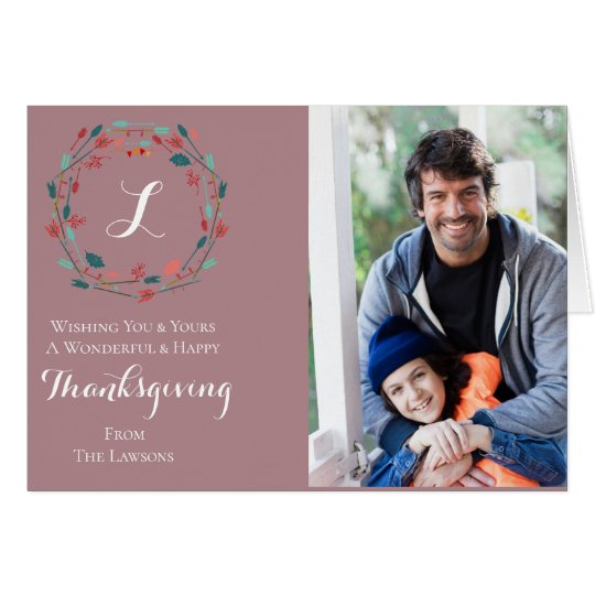 Autumn Colours Thanksgiving Card | Custom Photos