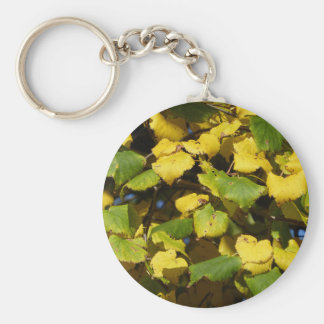 Autumn Comes Basic Round Button Keychain