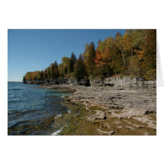 Autumn comes to Lake Michigan Card