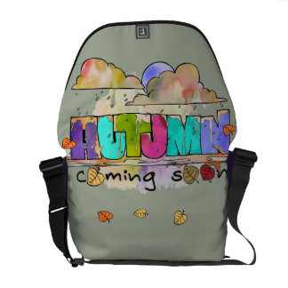 Autumn coming soon courier bags