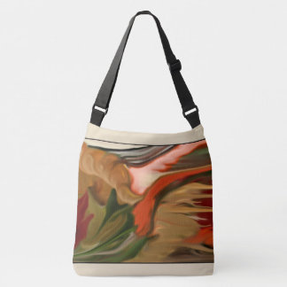 Autumn Cornucopia Abstract Art Crossbody Bag