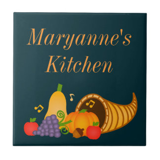 Autumn Cornucopia Custom Trivet Tile