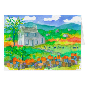 Autumn Cottage From Our Home To Yours Card